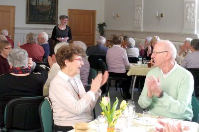 Frau Grams informierte die Mitglieder über die Arbeit der Genossenschaft im Jahr 2019