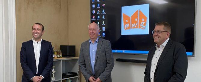 Eckhardt Rehberg zu Besuch bei der MWG